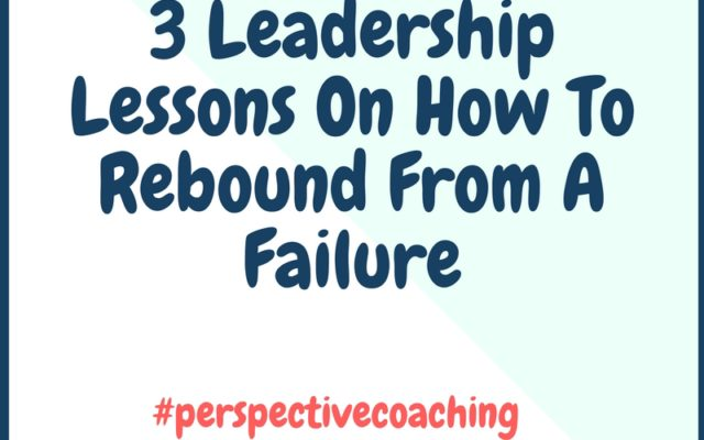Rebound from failure with Kingsley Grant