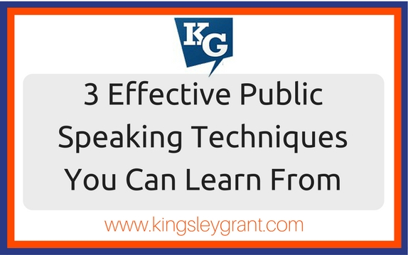 3 Effective Public Speaking Techniques From which You Can Learn
